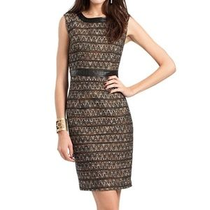 Trina Turk Dress Sleeveless Tweed Midi Shift 8